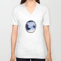 agate V-neck T-shirts featuring agate,agate cameo,gemstone by ira gora