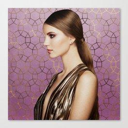 Gemma Geometric Glam - Lilac Purple Canvas Print