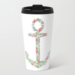 Floral Anchor Travel Mug