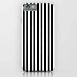 Abstract Black and White Vertical Stripe Lines 15 iPhone Case