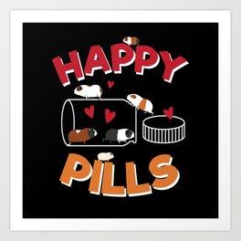 Happy Pills Guinea Pig Art Print