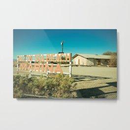 Salton Sea Marina Metal Print
