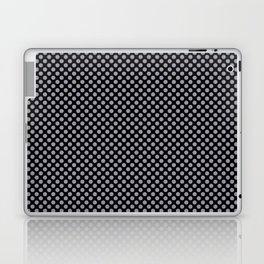 Black and Lilac Gray Polka Dots Laptop & iPad Skin