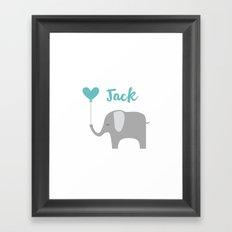 KLD _ Elephant Pillow Framed Art Print