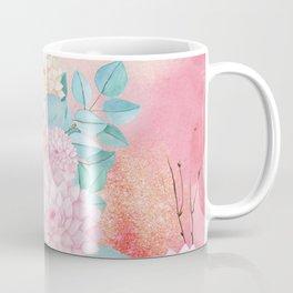 Gold dahlia bouquet #society6 Coffee Mug