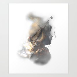 storm on the sea Art Print