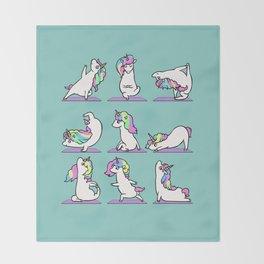 Unicorn Yoga Throw Blanket