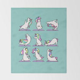 Unicorn Yoga Throw Blanket