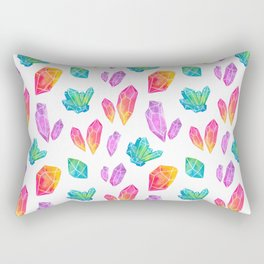 Watercolor Crystals Rectangular Pillow