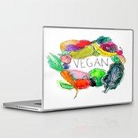 vegan Laptop & iPad Skins featuring Vegan  by BriannaCamp