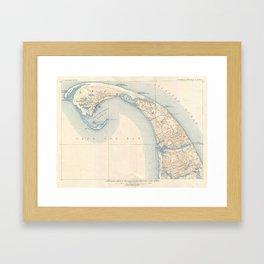 Vintage Map of Lower Cape Cod Framed Art Print