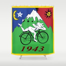 Bicycle Day 1943 Albert Hofmann LSD Shower Curtain