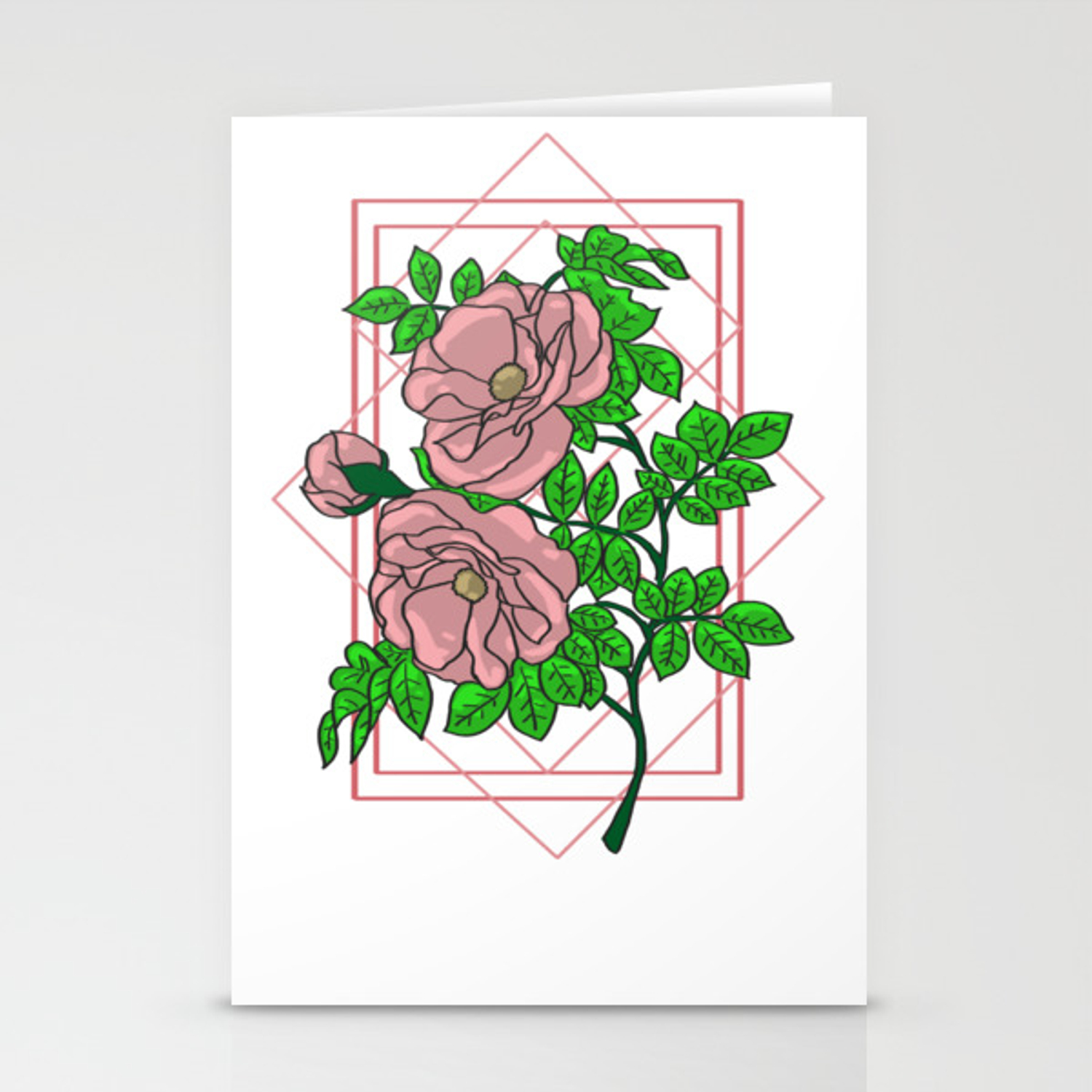 Rose Gold Aesthetic Stationery Cards By Wordvinemedia Society6