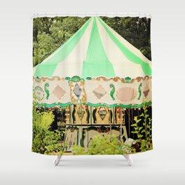 Zoo Carousel Shower Curtain