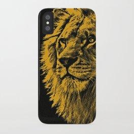 Golden Lion iPhone Case