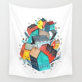 Tumble Town  Wall Tapestry