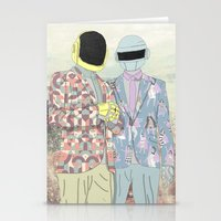 daft punk Stationery Cards featuring Daft Punk. by Lucas Eme A