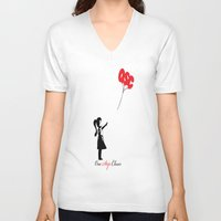 banksy V-neck T-shirts featuring OSC Banksy by ruizspeaces