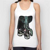 sneaker Tank Tops featuring SNEAKER ELEPHANT by Juan Diaz