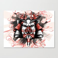 Masck Samurai Canvas Print