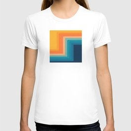 Retro 70s Color Lines T-shirt