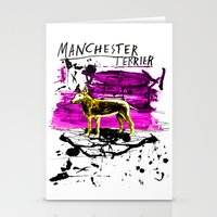 manchester Stationery Cards featuring Manchester Terier by Genco Demirer