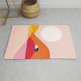 Abstraction_Mountains_Simple_House_Minimalism Rug