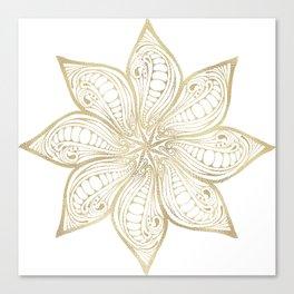 Gold flower design Canvas Print