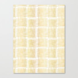Luxe Gold Criss Cross Weave Hand Drawn Vector Pattern Background Canvas Print