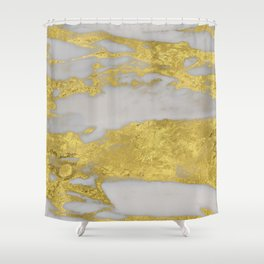 Agria gold marble Shower Curtain