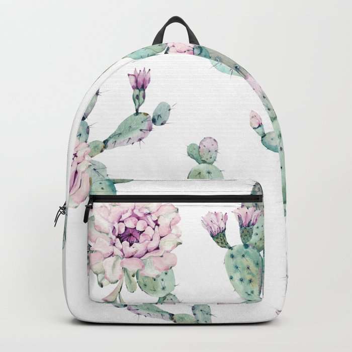 Arizona Desert Rose Cactus Pattern Backpack