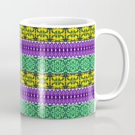 Regal Mardi Gras Stripes Coffee Mug