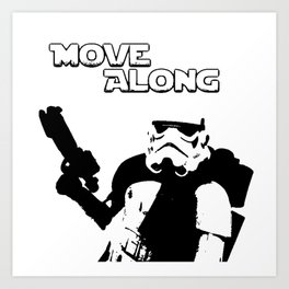 Move Along Art Print