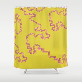 Squiggle of the Brain Shower Curtain