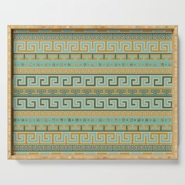 Meander Pattern - Greek Key Ornament #2 Serving Tray