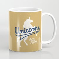 unicorns Mugs featuring Unicorns by WEAREYAWN