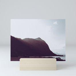 Sunlit Mountains - Waimanalo, Hawaii Mini Art Print