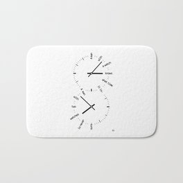 Two Watches Bath Mat