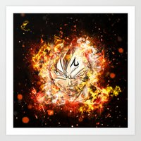 dbz Art Prints featuring Goku Vegeta DBZ Face by K2idesign