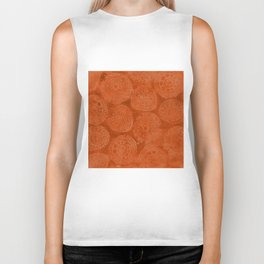 Tribal Terracota Rounds Biker Tank