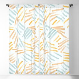 Watercolor Sketch Dashes Blackout Curtain