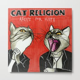 Cat Religion Metal Print