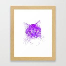 Jazz, drawing, purple Framed Art Print