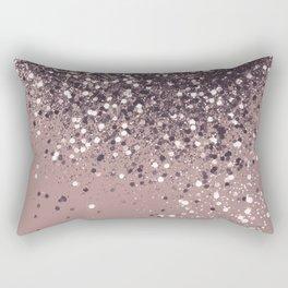 Sparkling Mauve Lady Glitter #3 #shiny #decor #art #society6 Rectangular Pillow
