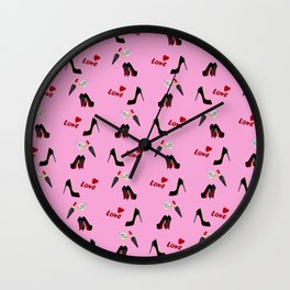 Love Pink Wall Clock