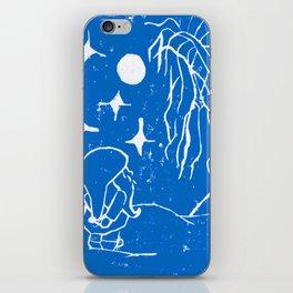 The Winter Elf - Snow Blue iPhone Skin