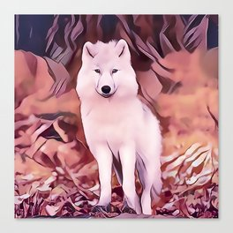 The Highland Wolf Cub Canvas Print