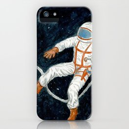 Astronaut Floating Through Space iPhone Case