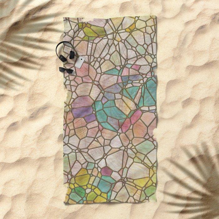 Aztec Vintage Pattern 05 Beach Towel