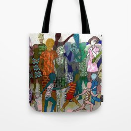 To the Beach by Lesley Nolan Tote Bag